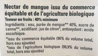 Nectar de mangue - Ingredientes - fr
