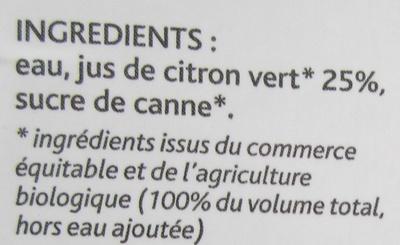 Nectar de citron vert d'Équateur - Ingrédients - fr
