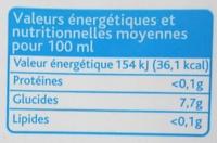 Nectar de citron vert d'Équateur - Informations nutritionnelles - fr