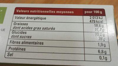 Speculoos Au Sucre Complet De Canne Bio & équitable - Voedingswaarden