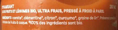 Dynamisant - Ingredients
