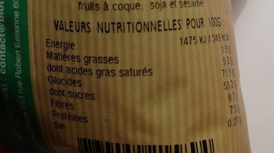 Mix superfruits - Voedingswaarden - fr