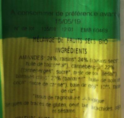 Mix Tonus - Ingrediënten - fr