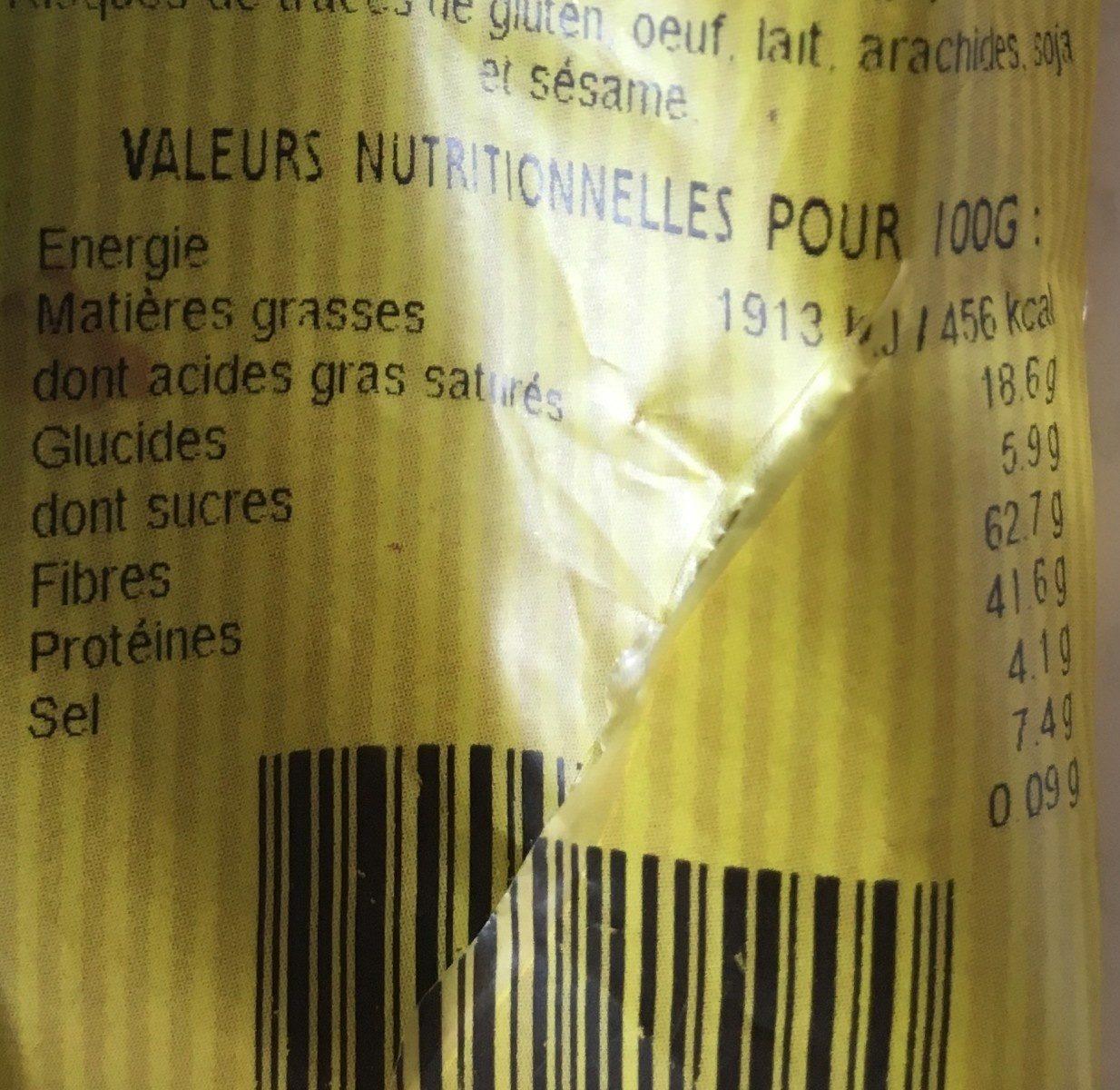 Mix Tonus - Voedingswaarden - fr