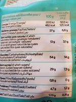 Muffins marbré bio VIADELICE - Informations nutritionnelles - fr