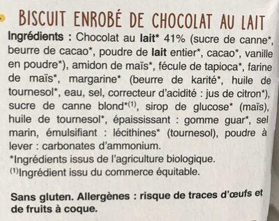 Batonnet choco lait - Ingrédients - fr