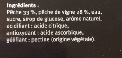 Sorbet Pêche de Vigne - Ingrédients