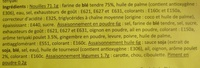 Nouilles instantanées, Arôme poulet teriyaki (Lot de 3) - (Voir 6923744329012 pour sachet individuel) - Ingredients
