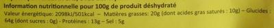 Nouilles instantanées, Arôme poulet teriyaki (Lot de 3) - (Voir 6923744329012 pour sachet individuel) - Nutrition facts