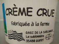 Crème crue fabriquée à la ferme 40% M.G. - Product