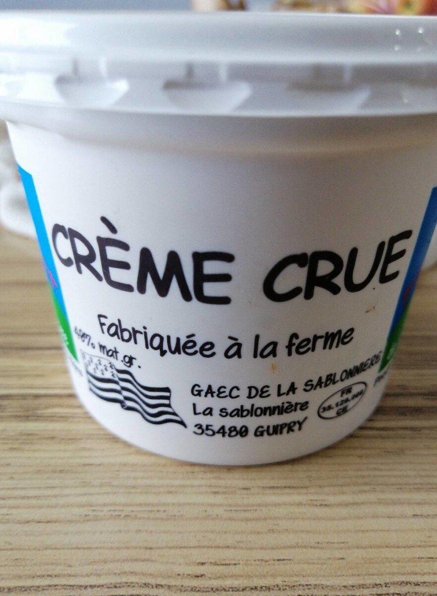 Crème crue fabriquée à la ferme 40% M.G. - Voedigswaarden