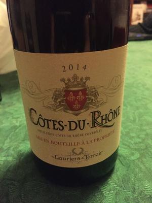 Côtes du Rhône 2014 - Produit