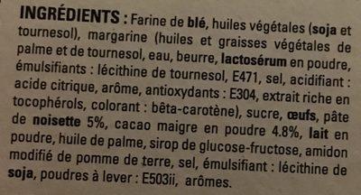 Sablés fourrés noisettes-cacao - Ingrédients