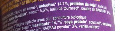 Pâte à tartiner noisette, cacao & baobab - Ingredients - fr