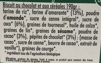 Mon petit dej nutrition chocolat - Ingredients - fr