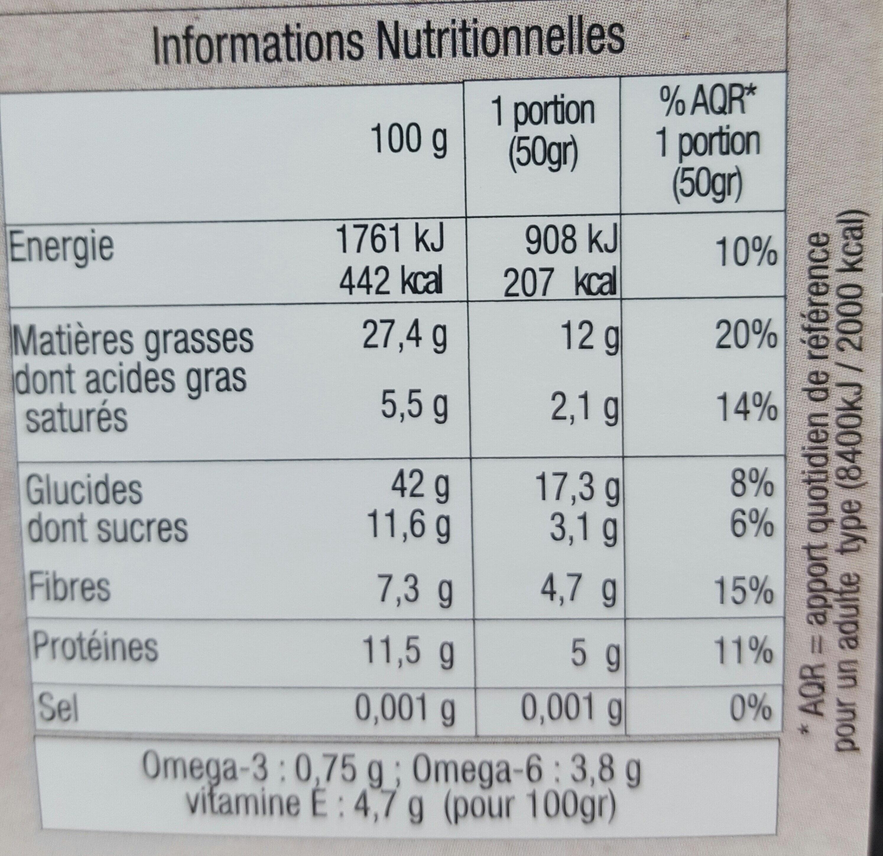 Biscuits P'TIT DEJ Chocolat - Informations nutritionnelles