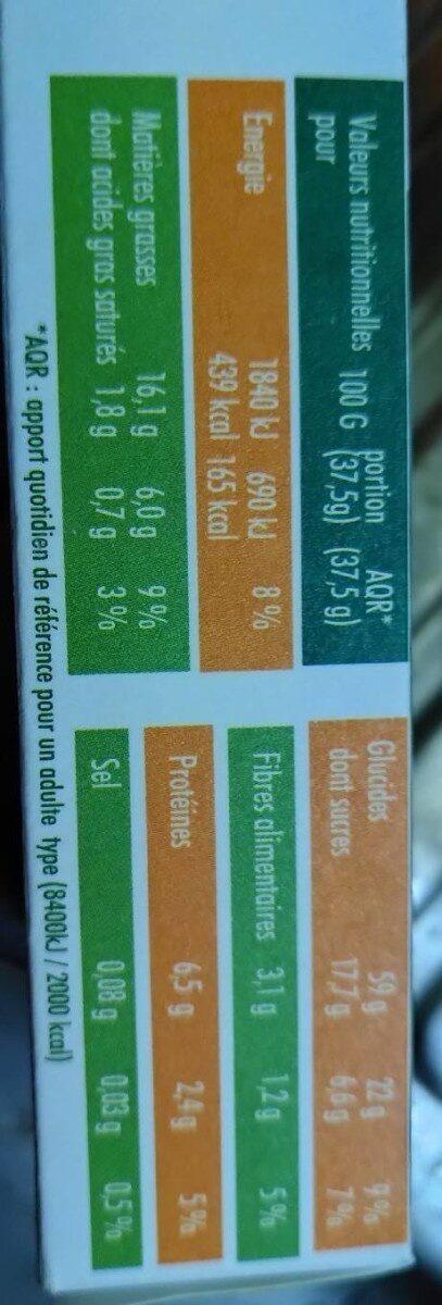 Mon biscuit BIO citron - Nutrition facts - fr