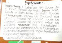 Biscuits choco noisettes - Ingrédients - fr
