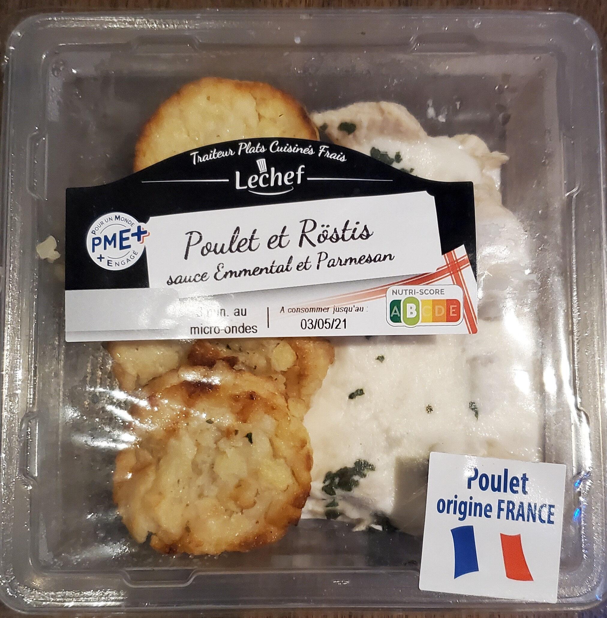 Poulet & Rostis sauce emmental & parmesan - Prodotto - fr