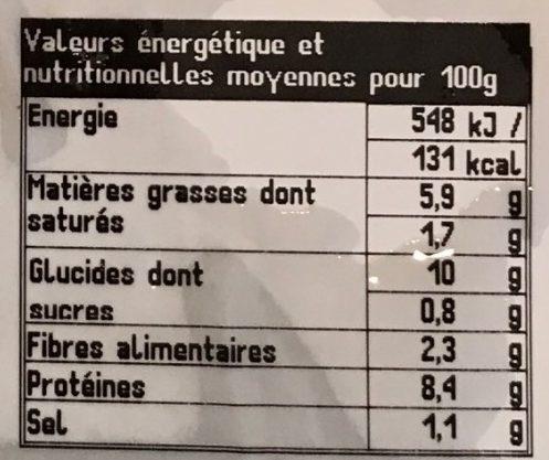 Couscous au Poulet, Merguez, Boulette de Volaille - Voedingswaarden - fr