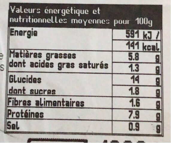 Paella royale - Voedingswaarden - fr