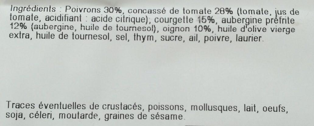 Ratatouilles aux Légumes du Soleil - Ingrediënten - fr