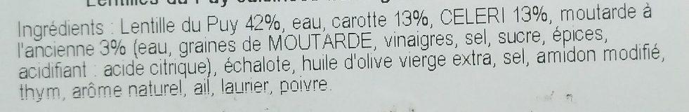 Lentilles du Puy aux Petits Légumes - Ingrediënten - fr
