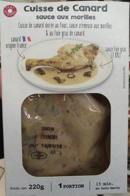 Cuisse de canard sauce aux morilles - Produit