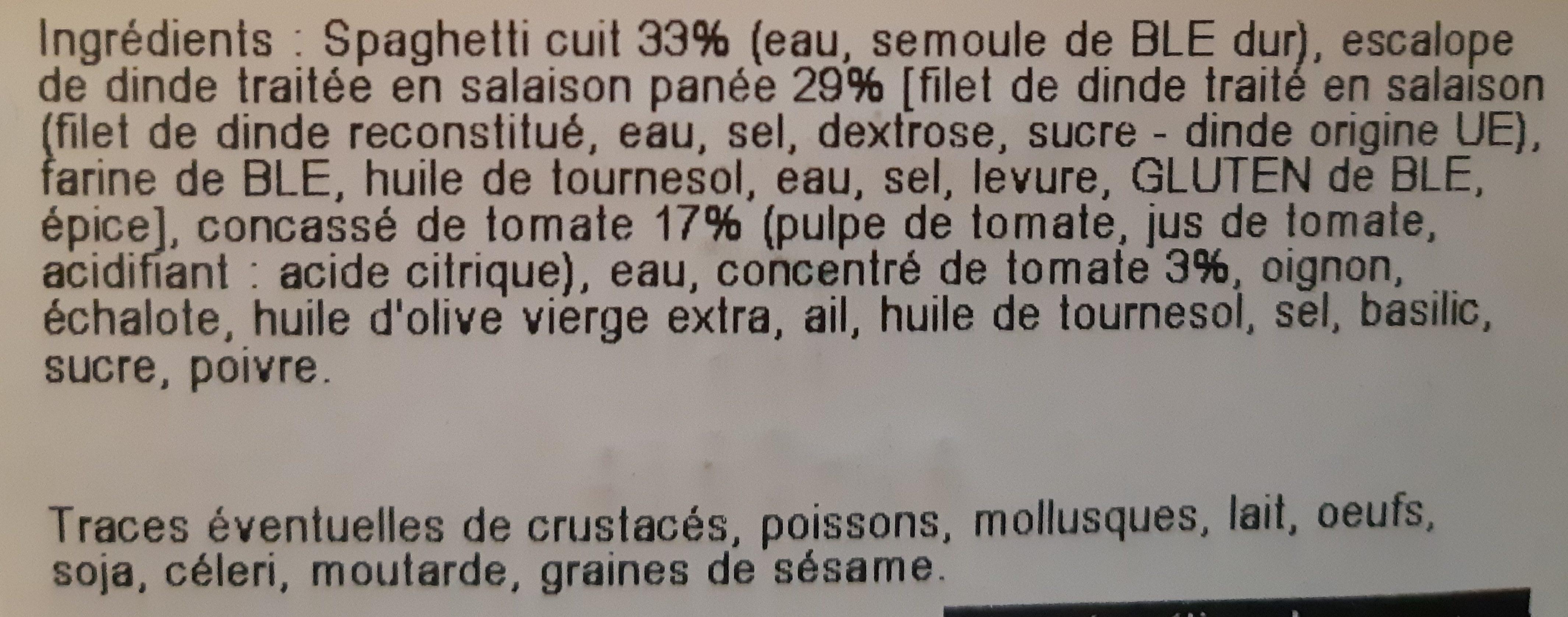 Escalope de dinde Milanaise - Ingrediënten - fr
