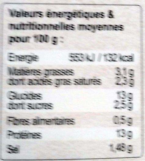 Chevreuil Sauce Grand Veneur - Voedingswaarden - fr