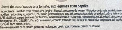 Jarret De Bœuf Aux Petits Légumes - Ingrediënten - fr