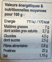 Jarret De Bœuf Aux Petits Légumes - Voedingswaarden - fr