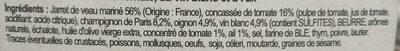 Jarret de veau Marengo - Ingrediënten - fr