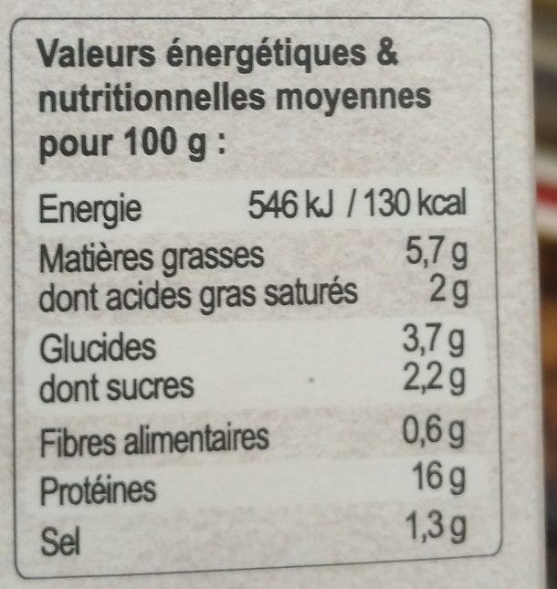 Jarret de veau Marengo - Voedingswaarden - fr