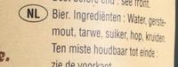 Bière blanche - Ingrediënten