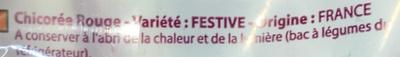 Endives Rouges - Ingrédients - fr