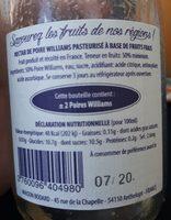 Necrar de poire Williams - Ingredienti - fr