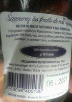 Nectar de fraise - Ingredients - fr