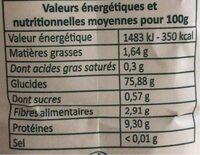 Farine de Blé - Informations nutritionnelles - fr