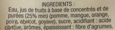 Fraîcheur Créole - Multifruits des îles - Ingredienti - fr
