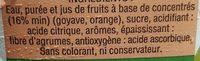 Fraîcheur créole Goyave Orange 2L - Ingredients - fr