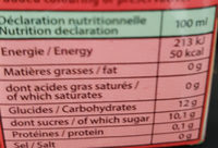 jacko ti pirate - Informations nutritionnelles