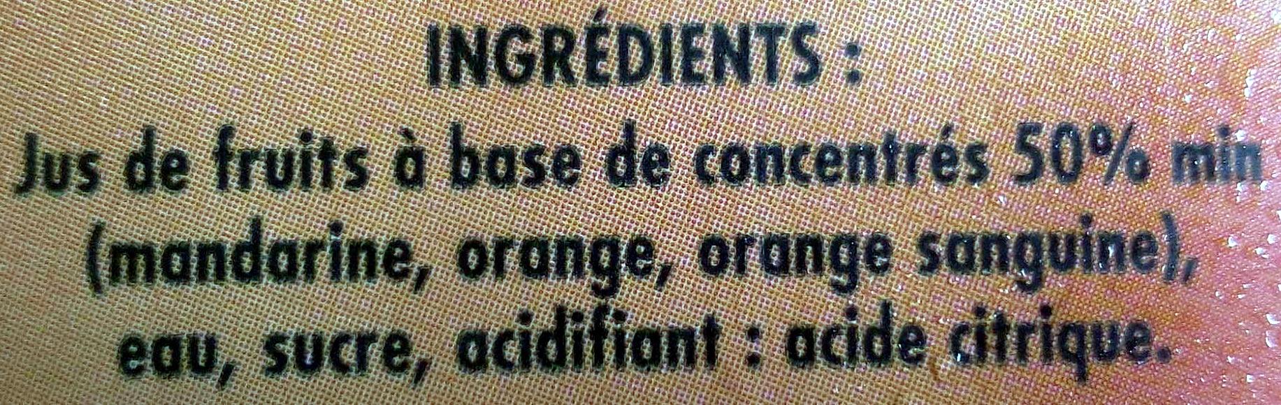 Nectar Oranges Mandarine - Ingrédients