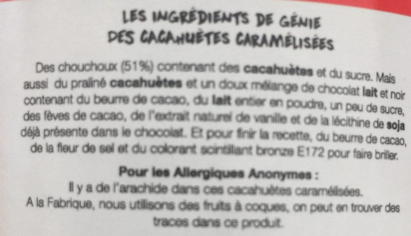 Cacahuetes caramelisees - Ingrediënten - fr