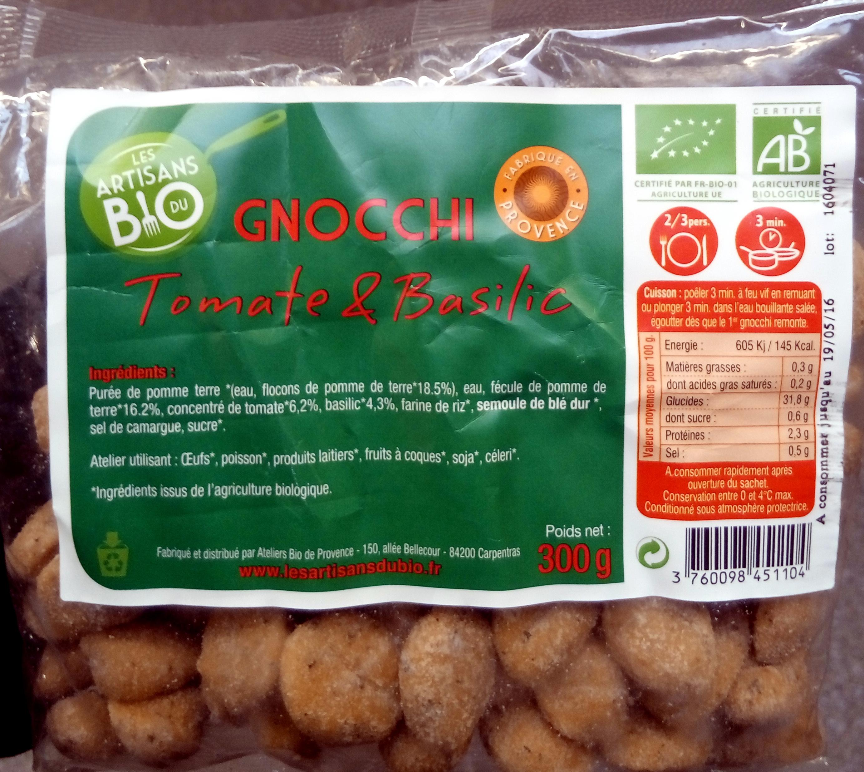 Gnocchi Tomates et Basilic - Produit - fr