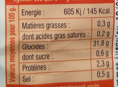 Gnocchi Tomates et Basilic - Informations nutritionnelles - fr