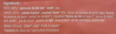 Ravioli Saumon Fumé - Ingrédients
