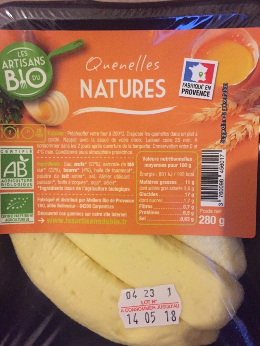Quenelles natures - Product - fr
