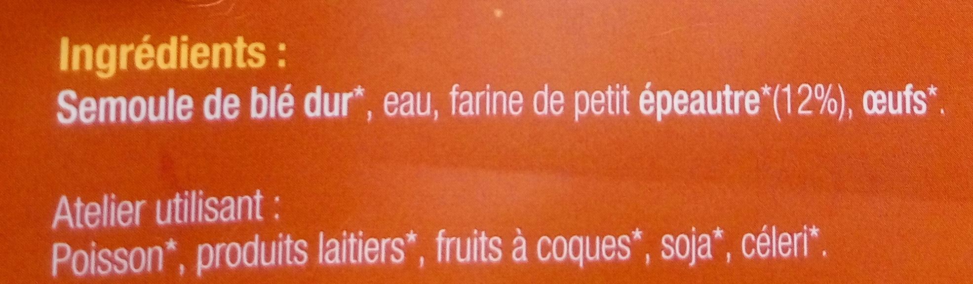 Pâtes au petit épeautre - Ingrédients - fr