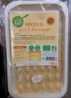 Ravioles aux 3 Fromages Bio - Product - fr